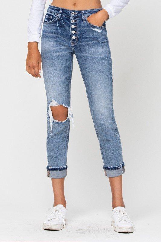 Skeeter Boyfriend Stretch Jeans by Vervet