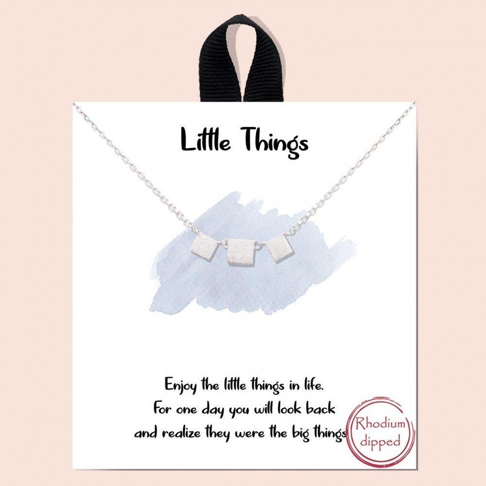 Silver Short Little Things Necklace