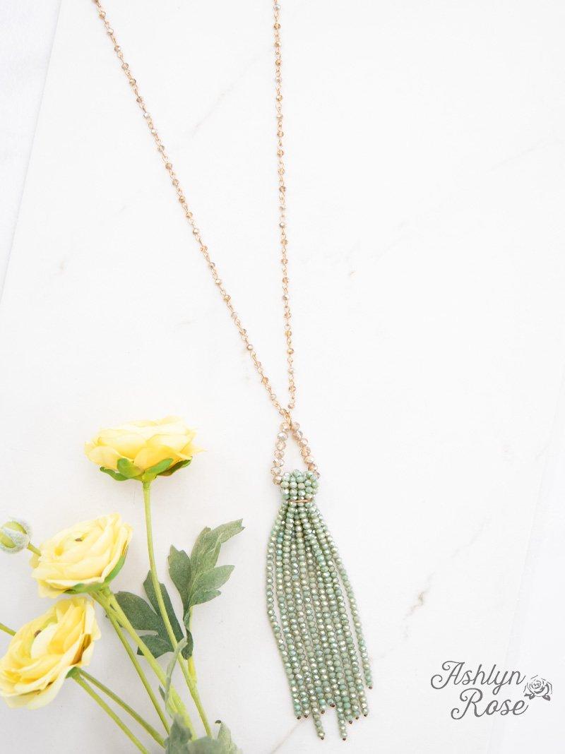 Drops of  Jade Necklace