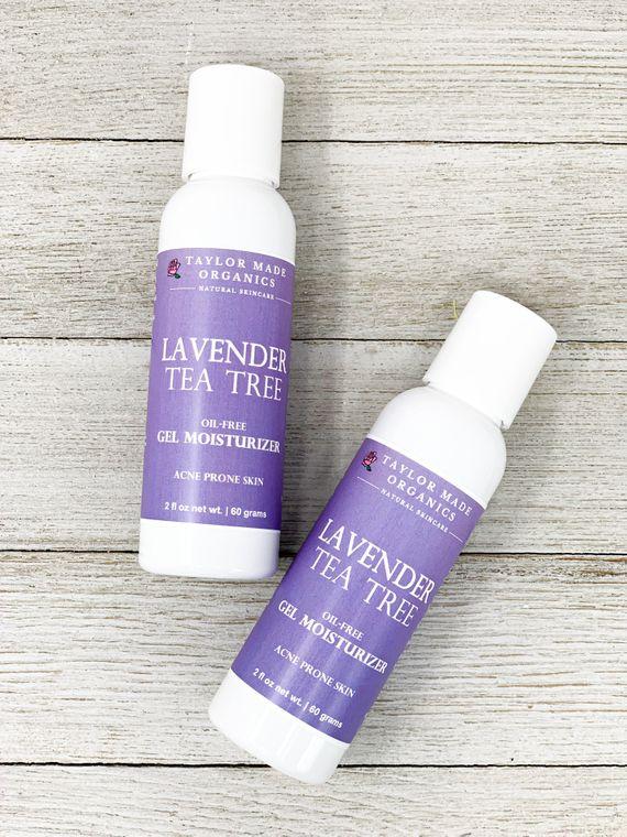 Lavender Tea Tree Gel Moisturizer - acne prone skin