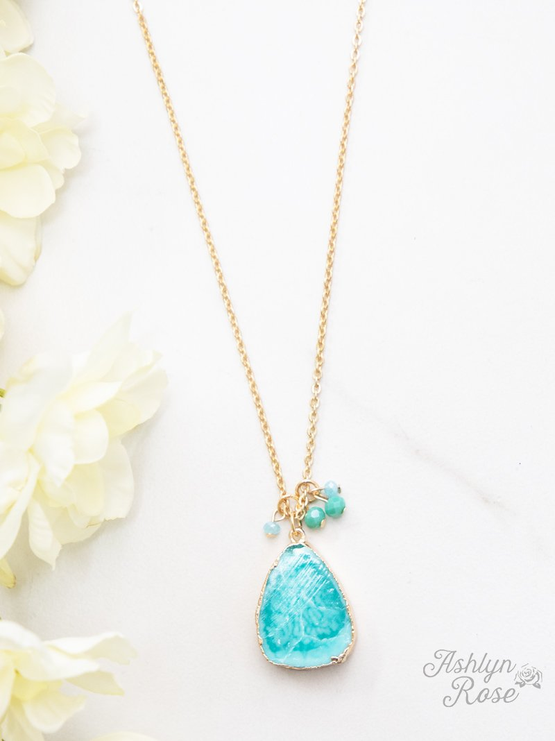 Jade Stone Pendant Necklace