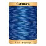 GUTERMANN Variegated Cotton 50wt Thread 800m -  Deep Evening Sky
