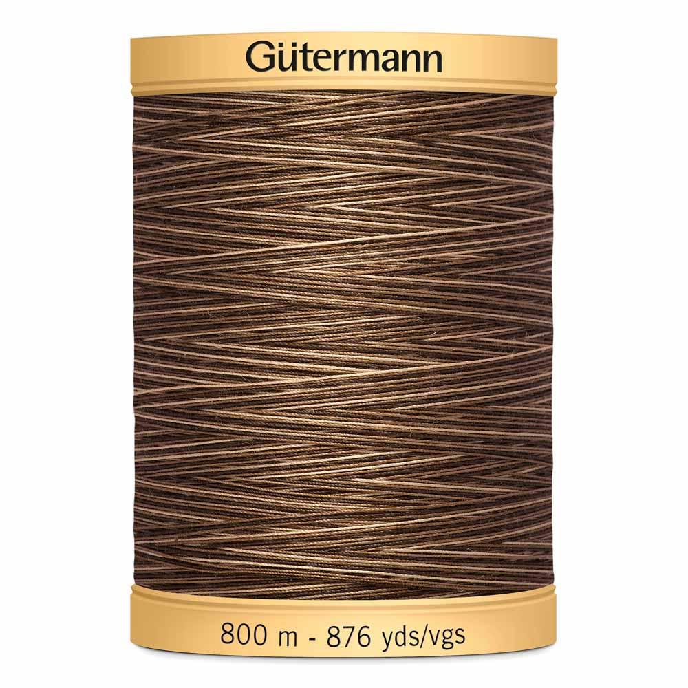 GUTERMANN Variegated Cotton 50wt Thread 800m - Brown Sugar & Cinnamon