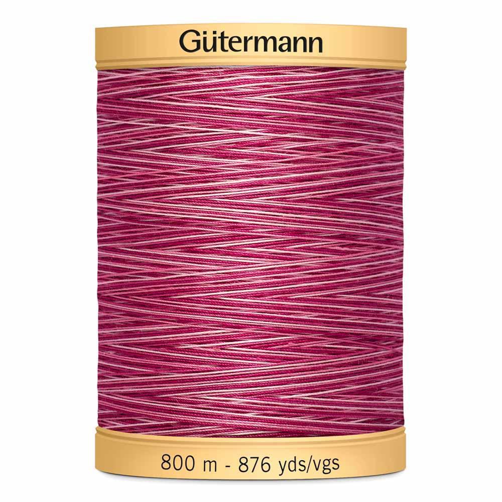 GUTERMANN Variegated Cotton 50wt Thread 800m -  Plum Berry
