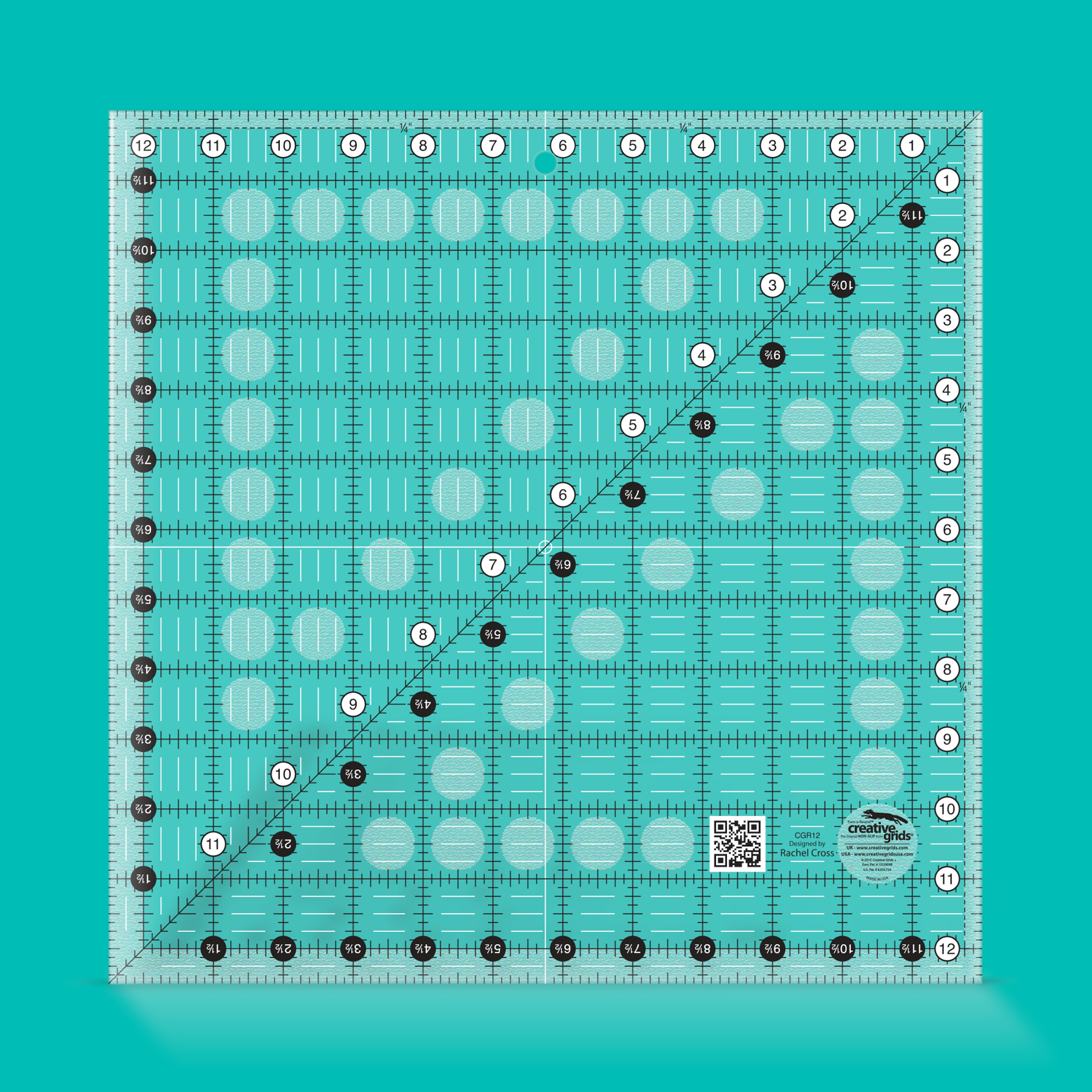 Creative Grids Ruler 12.5? by 12.5? Square CGR12