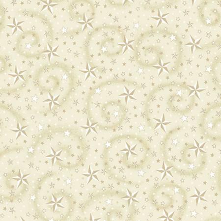 Cream Stars w/Swirl 108in Wide Quilt Back