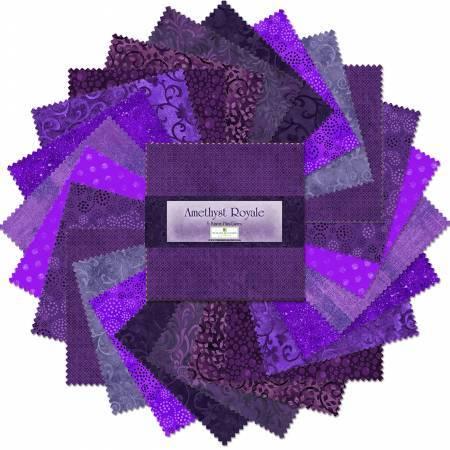Wilmington Prints 5 inch Squares Amethyst Royale 24pcs/bundle  # Q505-7-505