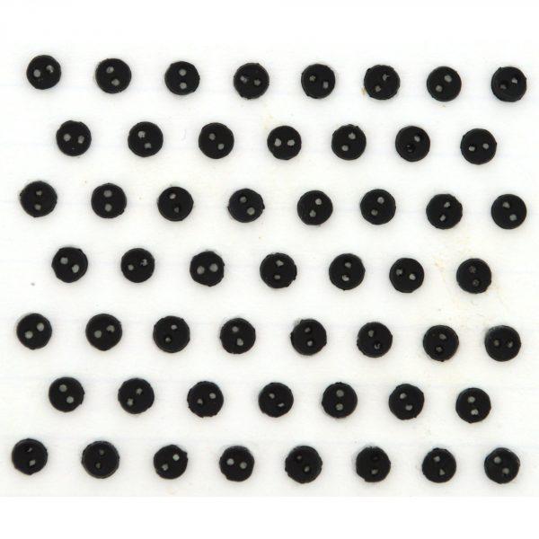 Dress It Up- Micro Mini round Black Buttons