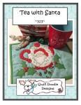 Mug Rug Tea with Santa