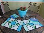 Cut Loose Stained Glass Placemats Pattern