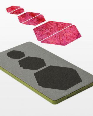 Accuquilt Fabric Cutting Die HALF HEXAGON 1, 1.5, 2  #55165