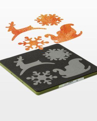 Accuquilt Fabric Cutting Die SLEIGH & SNOWFLAKE #55322