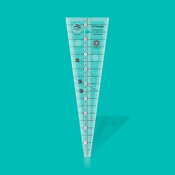 Creative Grids Ruler 15 degree triangle CGRT15