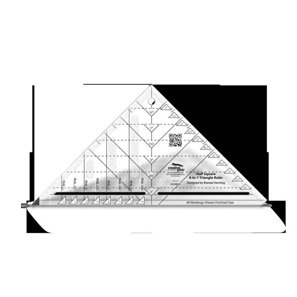 Creative Grids Ruler Half Square 4 -1 Triangle Ruler CGRBH1