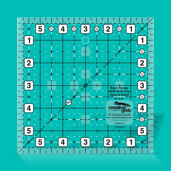 Creative Grids Ruler 6 inch square CGRBR2