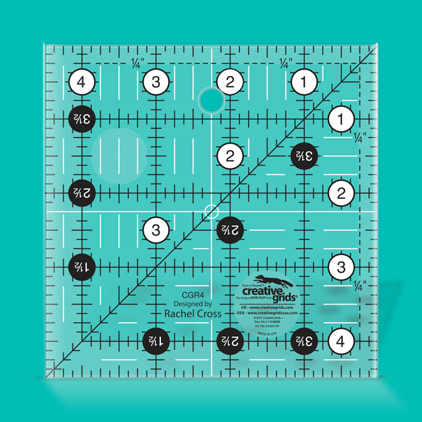 Creative Grids Ruler 4.5 by 4.5 Square CGR4