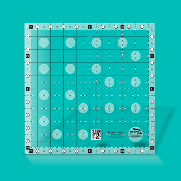 Creative Grids Ruler Perfect 10 Ruler CGRPERF10