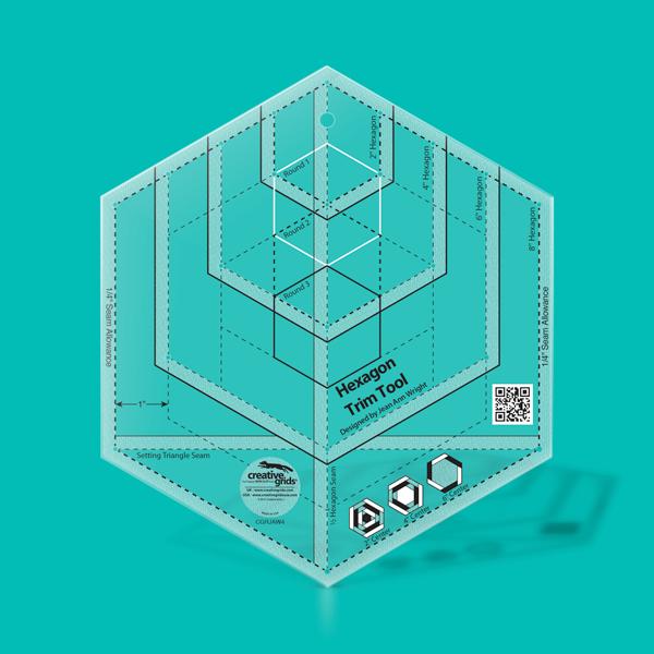 Creative Grids Ruler Hexagon Trim Tool CGRJAW4