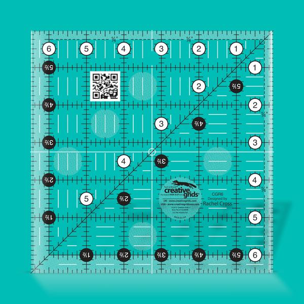 Creative Grids Ruler 6.5 Square CGR6