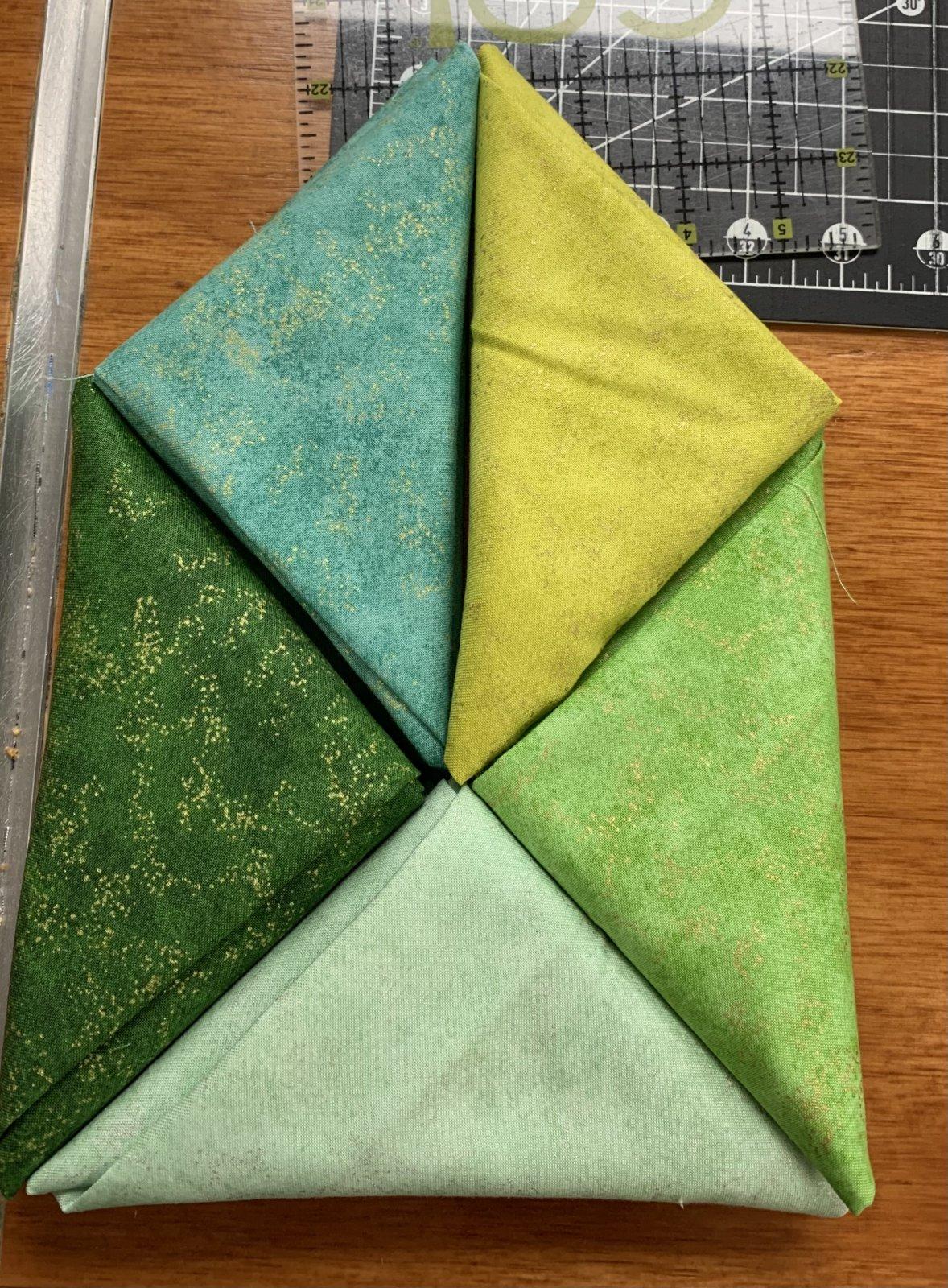 Green Shimmer 5-half meters