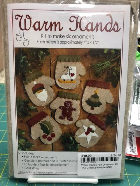 Warm Hands Felt Ornament Kit
