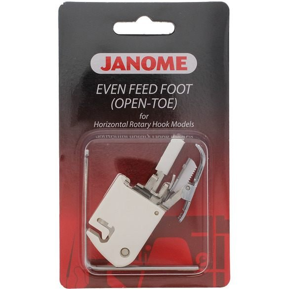 Janome Even Feed foot open toe Low Shank with guide