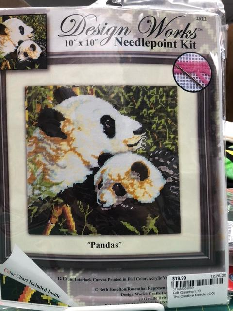 Pandas Needlepoint Kit