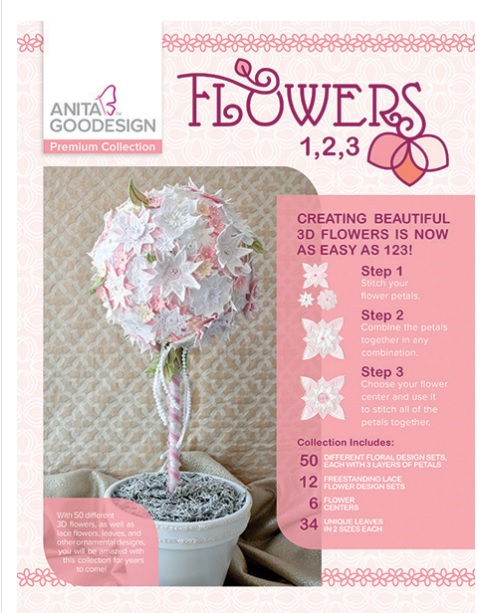 Anita Goodesign Flowers 1, 2, 3