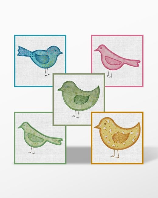 GO! Birds Embroidery Designs by Marjorie Busby