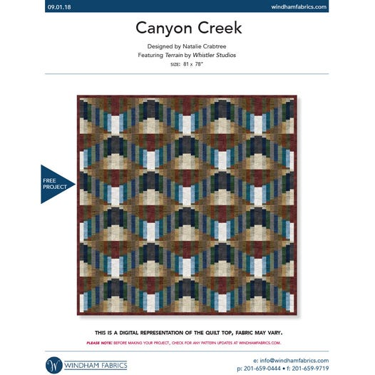Canyon Creek Quilt Kit with Pattern