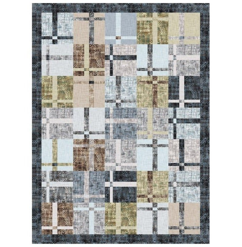 Color Fusion Quilt Kit with Pattern