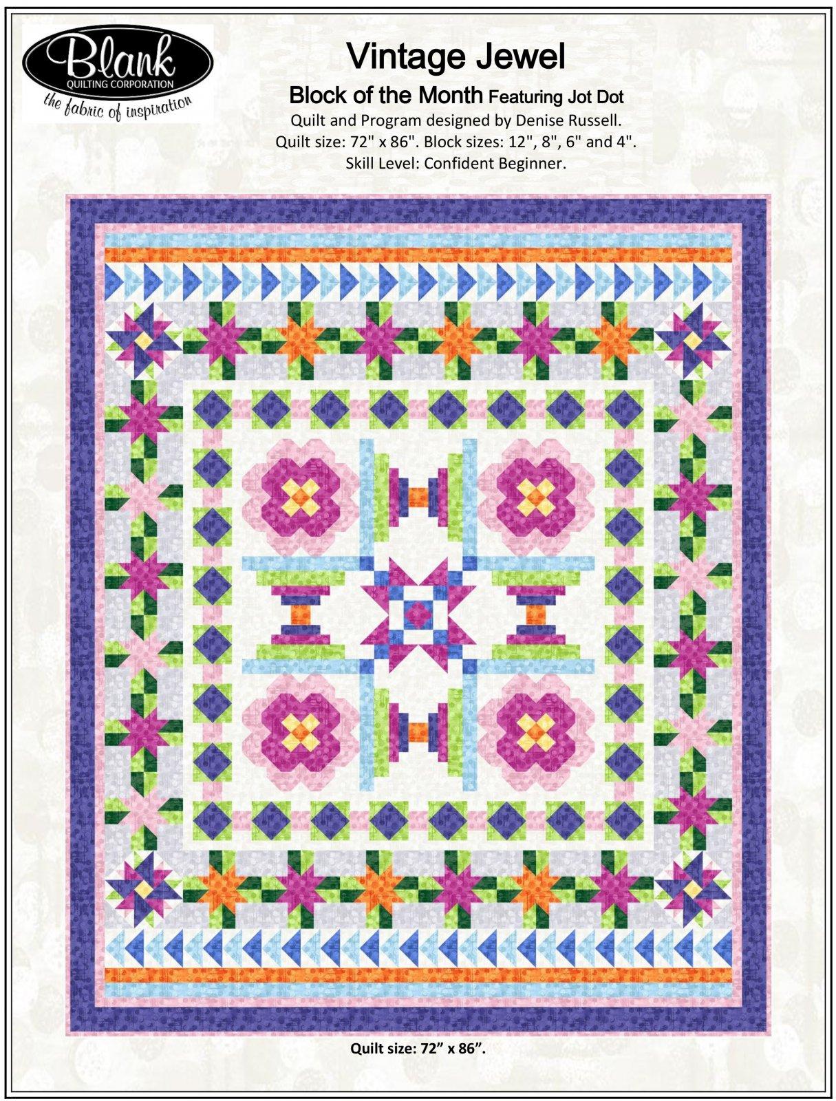 Jot Dot Sew Along Quilt Top Kit