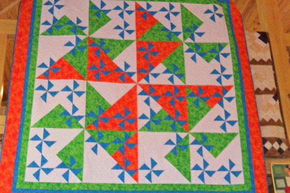 Shadow Pinwheel Quilt