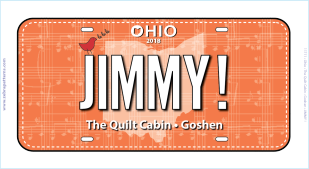 2018 RXR License Plate JIMMY