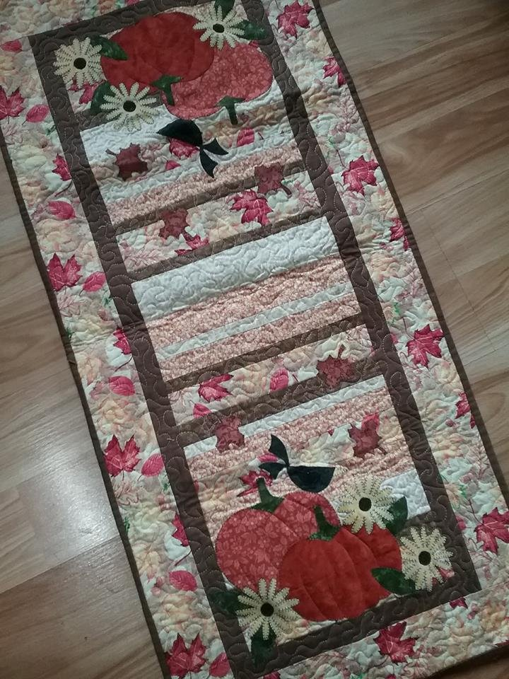 Autumn Strippy Table Runner