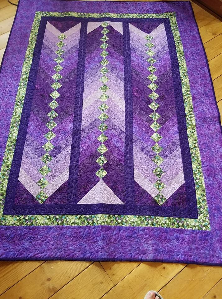 Purple French Braid Quilt