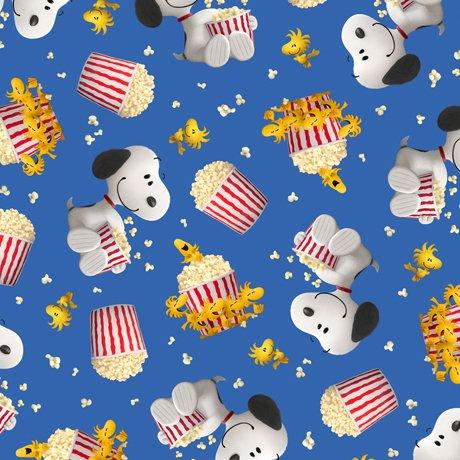 Popcorn & Peanuts Snoopy & Woodstock Blue