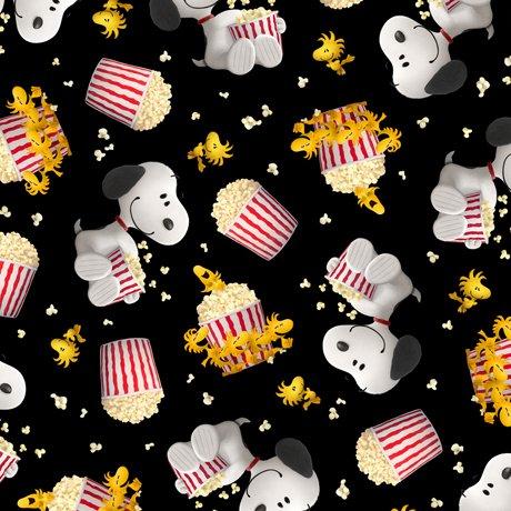 Popcorn & Peanuts Snoopy/Woodstock Black