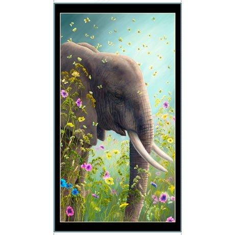 Artworks XII Elephant 2/3 yd panel