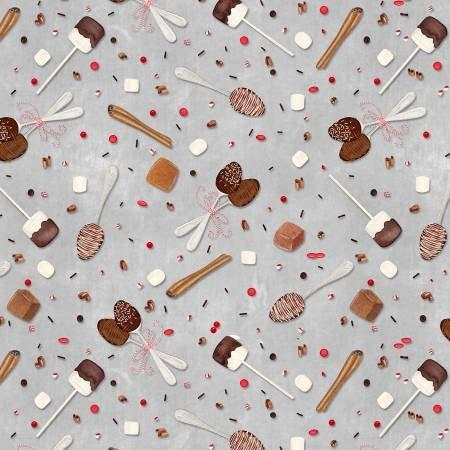 Hot Cocoa Bar Spoons & Sprinkles Dk Gray