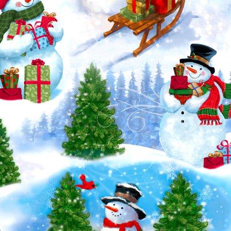 Frosty Friends Scenic Snowman