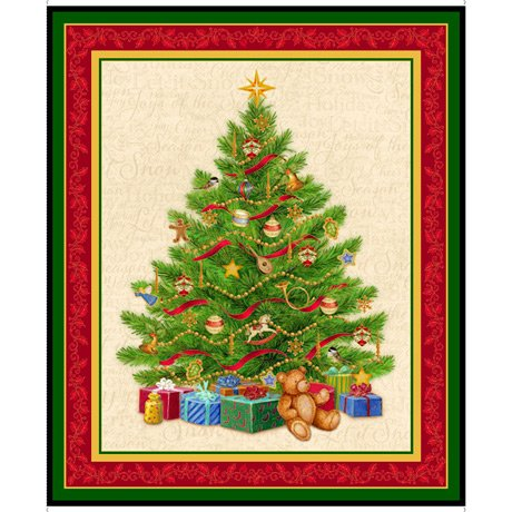 O'Tannenbaum Christmas Tree Panel - 1 yd