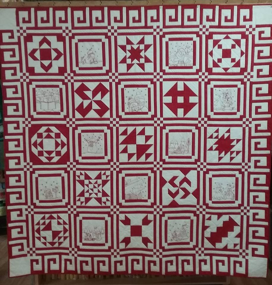 Red, White and Snow Pattern