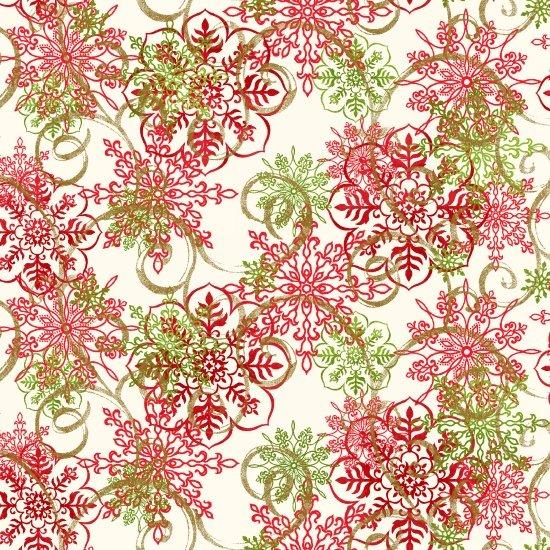 Christmas Village Snowflakes White