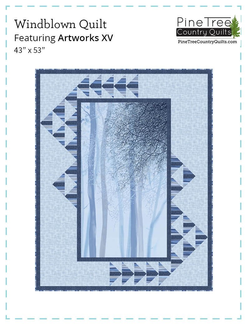WIndblown Quilt Kit Blue