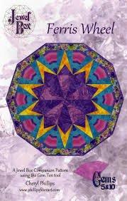 Farris Wheel   Pattern   Uses Jewel Box Gems 5& 10 Ruller