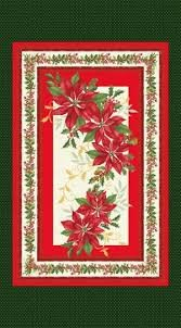 Holiday Blooms Panel