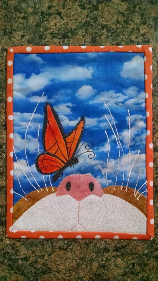 Hi Butterfly Mug Rug Pattern