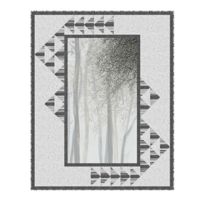 Windblown Quilt Kit - Gray