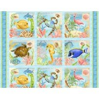 Seaside Wonders - Panel 7472  2/3 yd